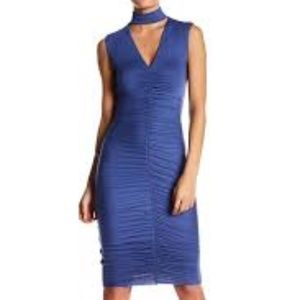 BAILEY 44 Ruched Sleeveless Dress Periwinkle M